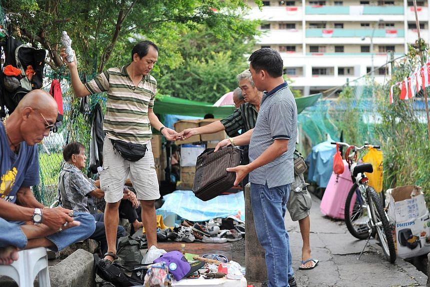 The Sungei Road flea market, which is open daily from 1pm to 7pm, draws tourists, foreign workers and locals. At least 70 per cent of the peddlers are between 60 and 80 years old.
