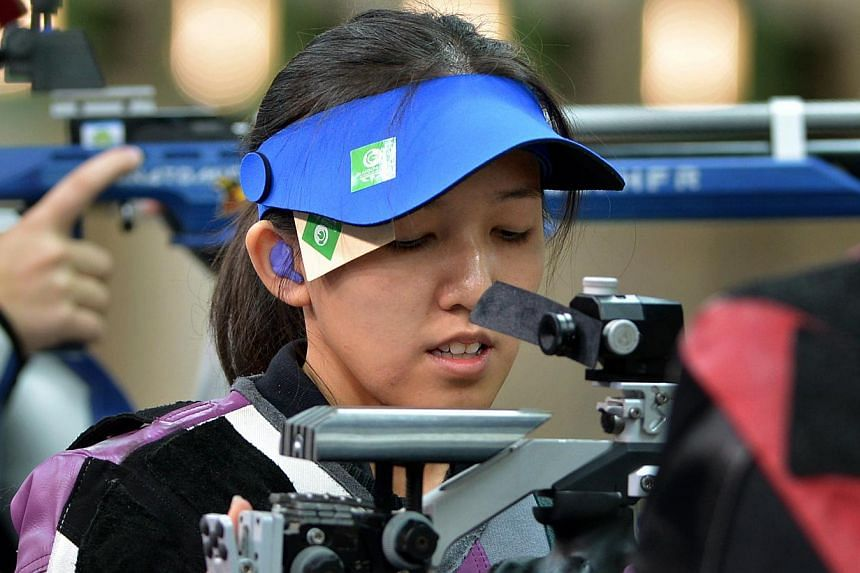 A smiling Jasmine Ser feeling more relieved than happy after winning the 50m rifle three-positions final at the Barry Buddon Shooting Centre in Carnoustie on the final day of shooting at the Commonwealth Games. She was consistent throughout her 45 sh