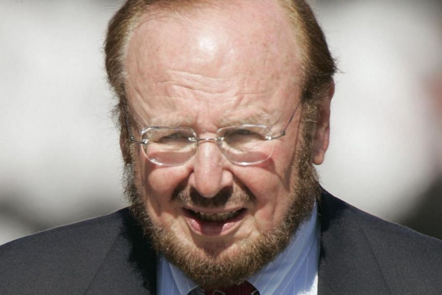 A 21 Nov 2004 file photo shows the late US business tycoon Malcolm Glazer in Tampa Bay, Florida. The Glazer family will make around US$150 million (S$187 million) by selling part of its stake in Manchester United, although the deal will leave th