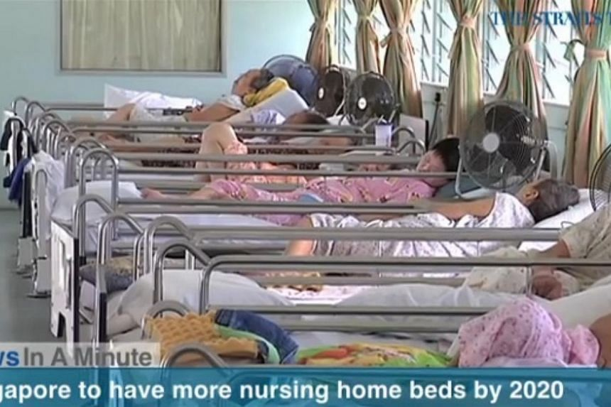 In today's The Straits Times News In A Minute video, we look at Singapore having more nursing home beds by 2020, among other issues. -- PHOTO: SCREENGRAB FROM VIDEO