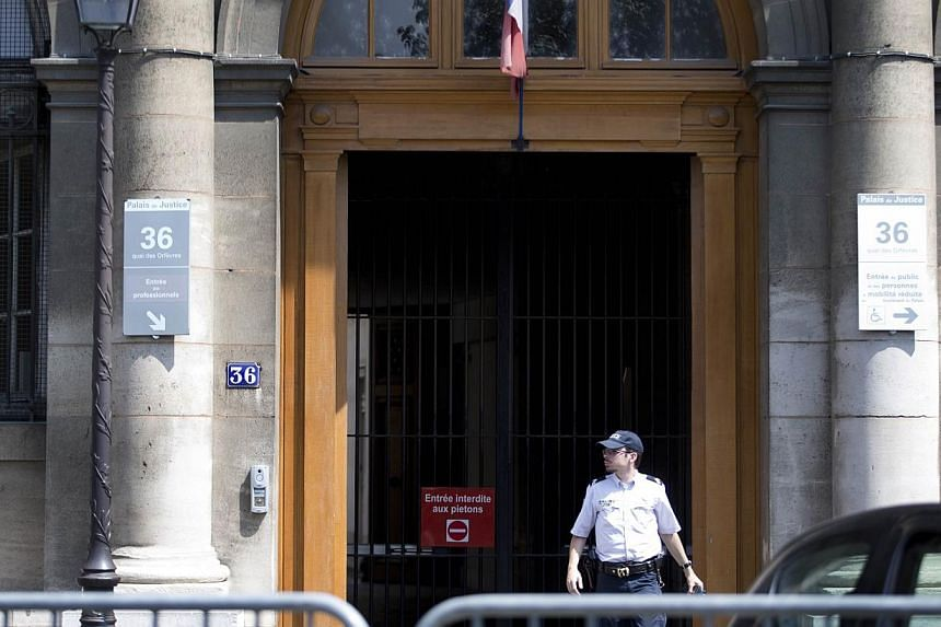A picture taken on Aug 1, 2014, shows the entrance of Paris criminal investigation department headquarters, located at the 36 Quai des Orfevres in the French capital. -- PHOTO: AFP