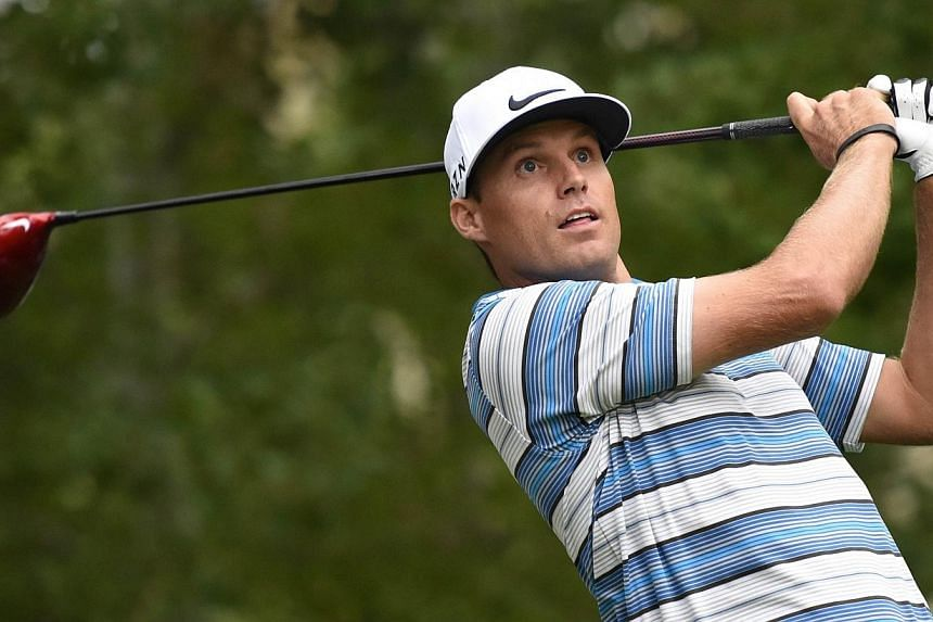 Nick Watney makes a tee shot on the 18th hole during the first round of the Barracuda Championship at the Montreux Golf and Country Club on July 31, 2014 in Reno, Nevada. -- PHOTO: AFP
