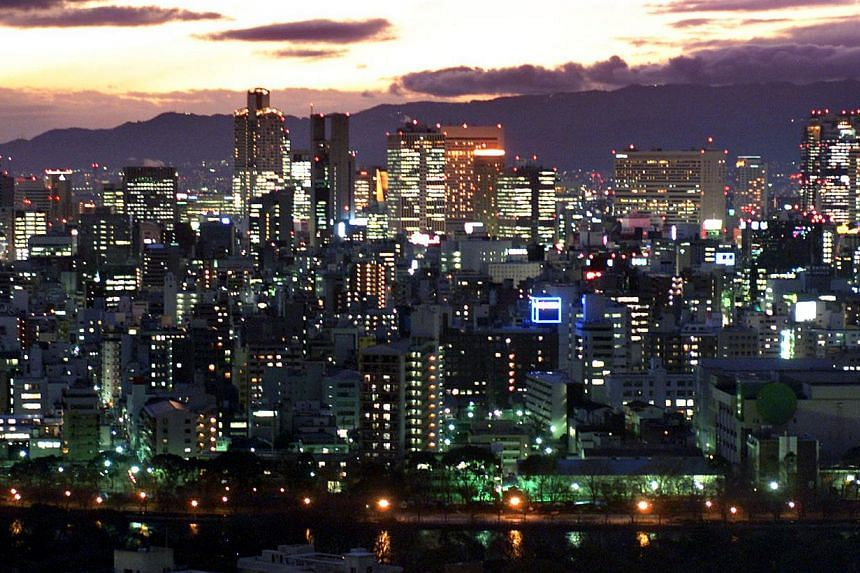 The skyline of Osaka is seen in this Feb 8, 2001, file photo.Osaka police have admitted they did not report more than 81,000 offences over a period of several years in a desperate bid to clean up the region's woeful reputation for street crime.
