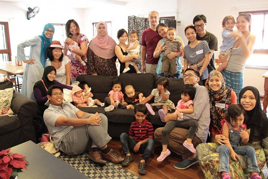 27 mothers breastfed their babies at four locations around Singapore - Fika Cafe, Yahava Koffeeworks, Real Food, and Da Paolo Gastronomia - on Saturday, Aug 2, as part of World Breastfeeding Week. -- PHOTO: BREASTFEEDING MOTHERS' SUPPORT GROUP (SINGA
