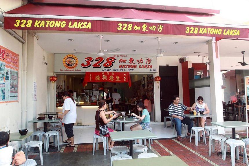 A file photo of 328 Katong Laksa eatery in Katong. -- PHOTO: ZAOBAO