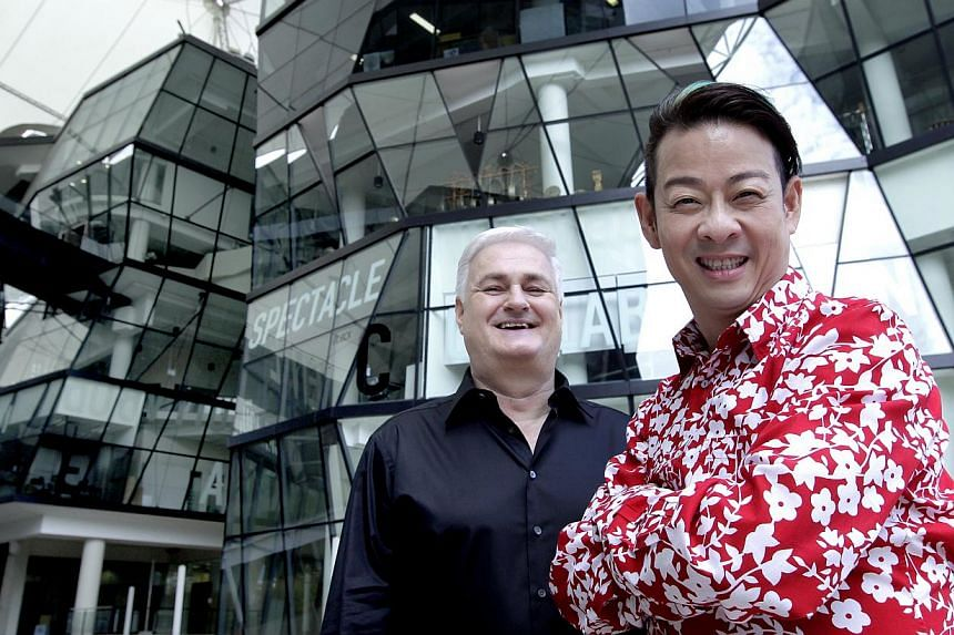 Ivan Heng (right), the artistic director of home-grown theatre company Wild Rice,tied the knot with his long-time partner Tony Trickett, Wild Rice's executive director, in London on Aug 1. -- ST FILE PHOTO