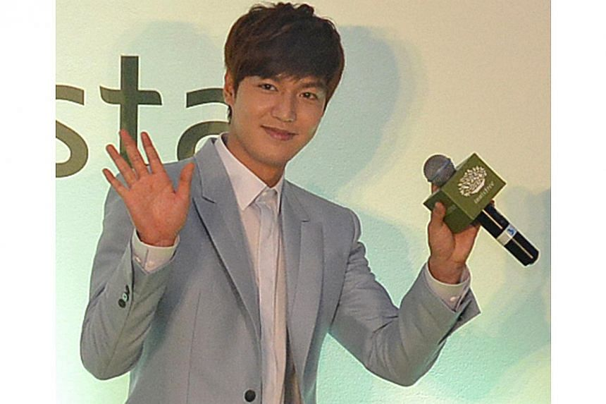 Korean star Lee Min Ho at the Innisfree Festa press conference at the Pan Pacific Singapore hotel on Dec 17, 2013. -- PHOTO: THE NEW PAPER FILE