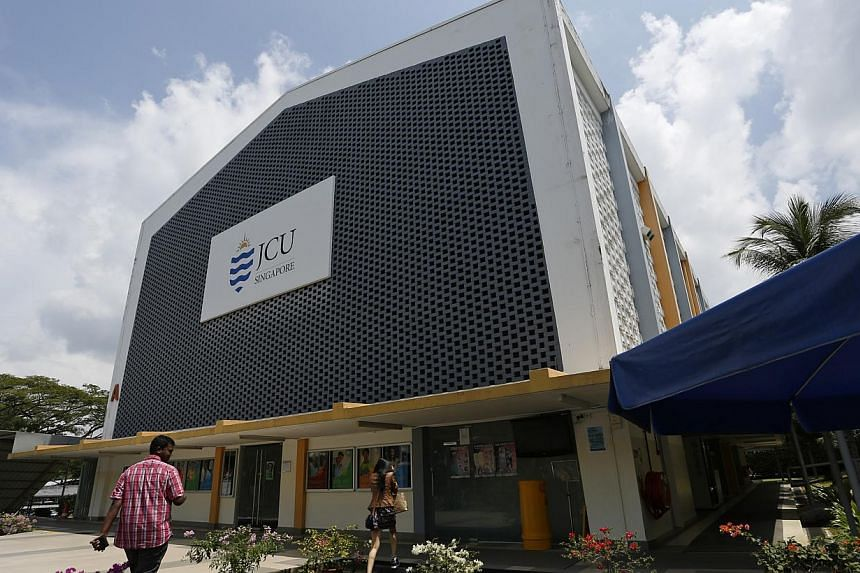 JCU Singapore now operates out of a campus in Ang Mo Kio and another in Upper Thomson Road. It will give up these premises when it moves to the former Manjusri Secondary site. -- PHOTO: DESMOND LUI FOR THE STRAITS TIMES