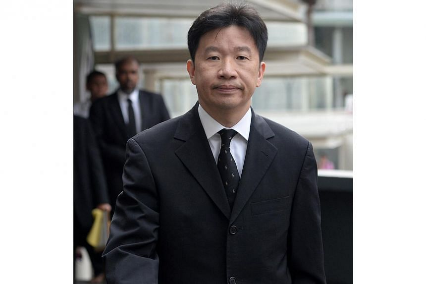 Mark Edward Tjong, a former business director of an ST Electronics subsidiary, was sentenced to eight weeks' jail for corruption on Tuesday. -- ST PHOTO: MARK CHEONG