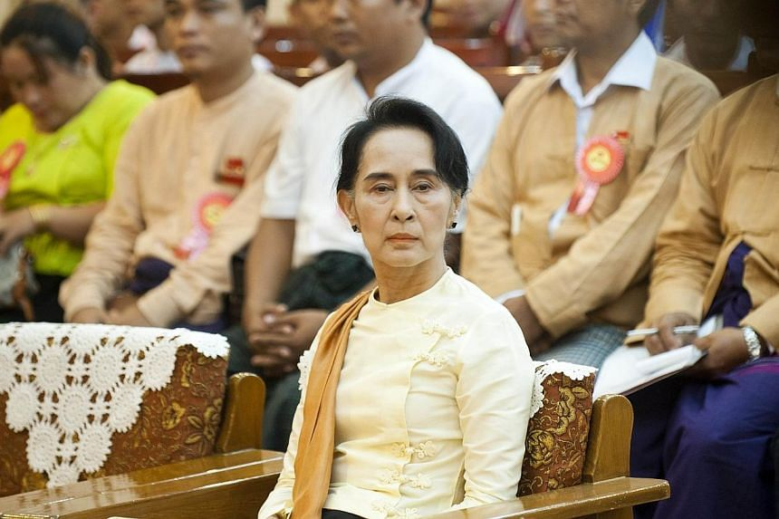 Myanmar's opposition said on Wednesday almost five million people had signed a petition seen as a step towards ending a constitutional ban on veteran activist Aung San Suu Kyi running for president. -- PHOTO: AFP