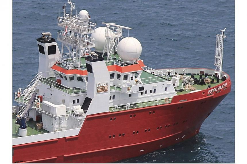 A Frugo survey vessel sails off Thailand in this June 20, 2014 picture. Australia on Wednesday awarded a contract to the Dutch engineering firm to search the sea floor where missing Malaysia Airlines flight MH370 is believed to have crashed, hoping t