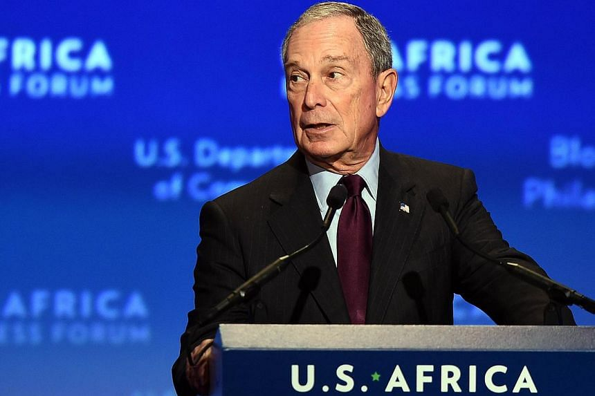 Former New York mayor Michael R. Bloomberg speaks during the US-Africa Business Forum on the sidelines of the US-Africa Leaders Summit in Washington, DC, on August 5, 2014. US companies are planning US$14 billion worth of investments in Africa, a Whi
