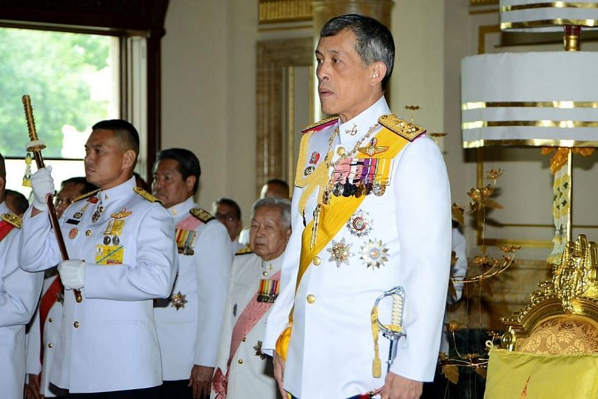 This handout photograph from Parliament received and taken on Aug 7, 2014 shows Thai Crown Prince Maha Vajiralongkorn attending the opening of the National Legislative Assembly in Bangkok.Thailand inaugurated a new national assembly dominated b