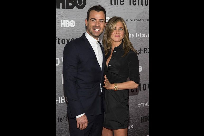 Justin Theroux and Jennifer Aniston (both above) have been engaged since 2012. -- PHOTO: REUTERS