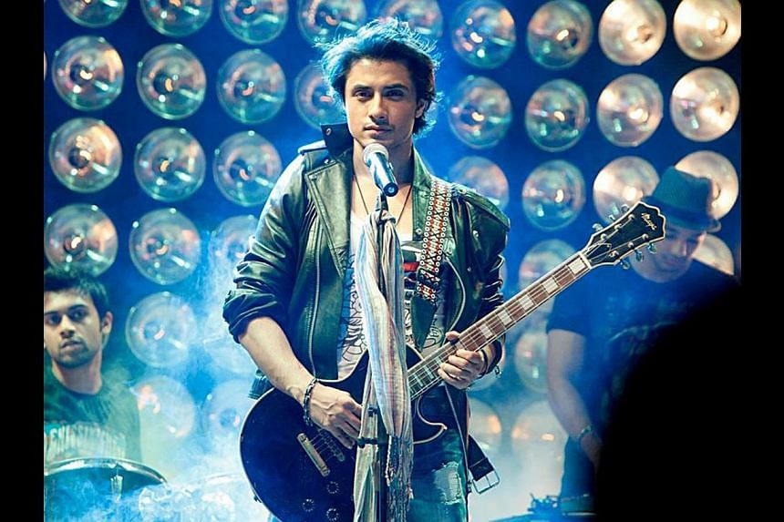 In Bollywood, where most actors have playback voices, Ali Zafar is the rare star who can sing for himself. -- PHOTO: SINGAPORE PAKISTAN ASSOCIATION