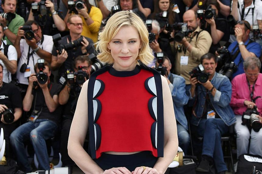 Actress Cate Blanchett, seen here at the 67th Cannes Film Festival in Cannes on May 16, 2014, has made Vanity Fair's 2014 international best-dressed list for the second time. -- PHOTO: REUTERS