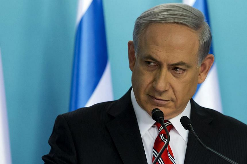 """Israel's Prime Minister Benjamin Netanyahu holds a news conference at his office in Jerusalem August 6, 2014. He told Fox News on Thursday thatIsrael has """"nothing against the people of Gaza"""" and wants to help them deal with the """"tyranny"""" of Ham"""