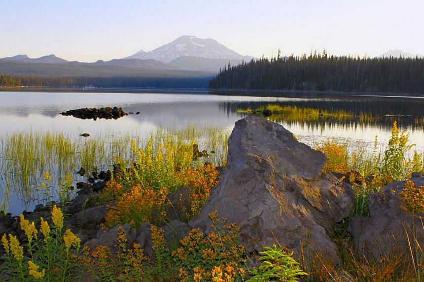 The sunrise rises at Elk Lake, Oregon. -- PHOTO: PDTA.ORG/ ERIC VALENTINE
