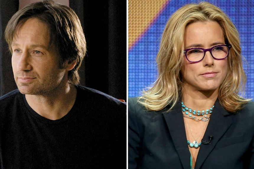 Hollywood couple David Duchovny and Tea Leoni have divorced. -- PHOTO: AFP / FOX INTERNATIONAL CHANNELS