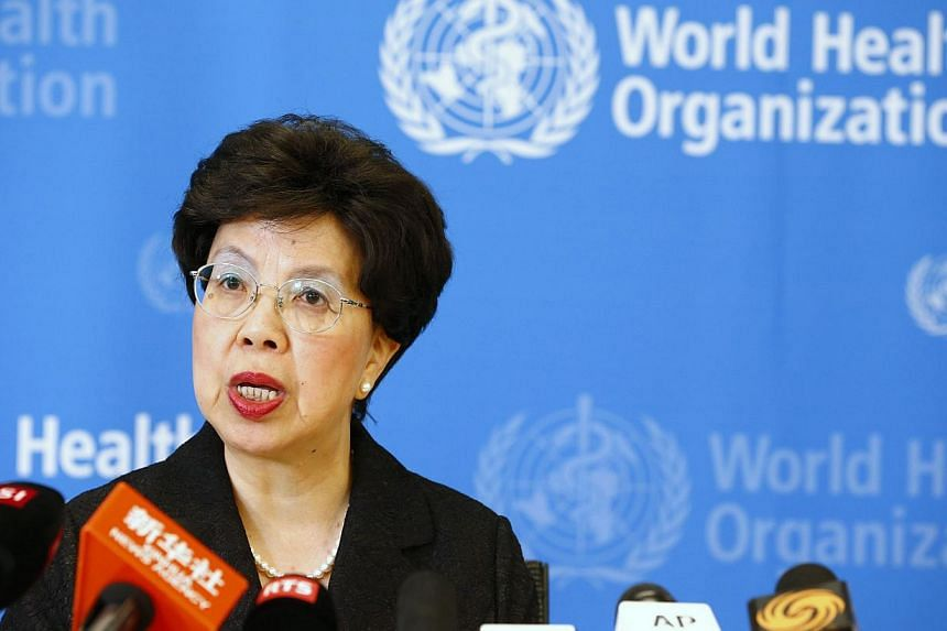World Health Organization (WHO) Director-General Margaret Chan addresses the media after a two-day meeting of its emergency committee on Ebola, in Geneva on Aug 8, 2014.A Nigerian man suspected of having contracted the Ebola virus has tested ne