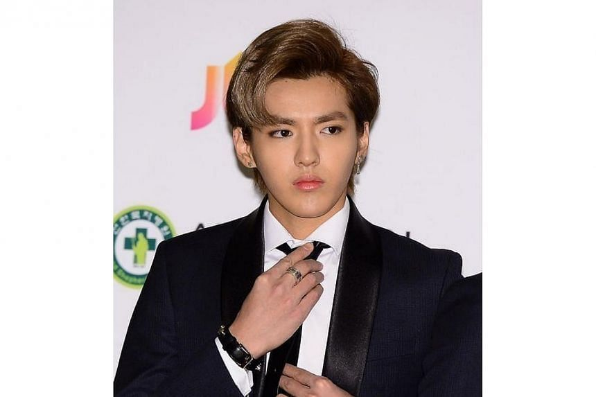 Former EXO band member Kris will be starring with former Super Junior member Han Geng in a Korean-Chinese film.-- PHOTO:KOREA HERALD/ASIA NEWS NETWORK