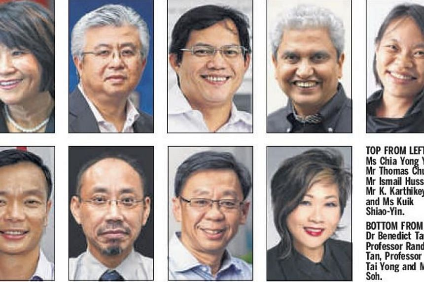 The nine Nominated MPs who take their seats in Parliament on Aug 26.