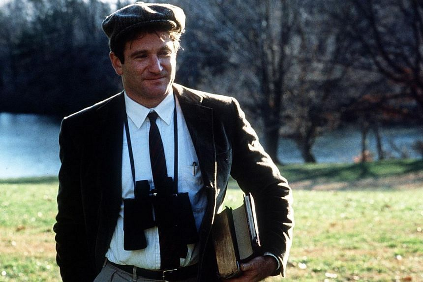 A cinema still from Dead Poets Society starring Robin Williams. -- PHOTO: TOUCHSTONE PICTURES
