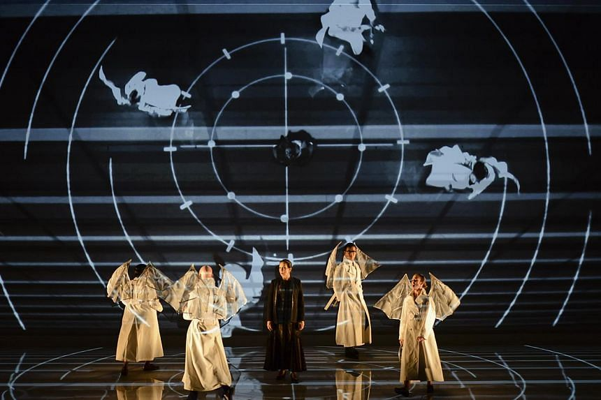 (From left) Aundi Marie Moore, Thomas Michael Allen, Suzanna Guzman, Museop Kim and Anne-Carolyn Bird in Facing Goya, the Michael Nyman opera which opens the festival on Tuesday evening.-- PHOTO: SINGAPORE INTERNATIONAL FESTIVAL OF ARTS