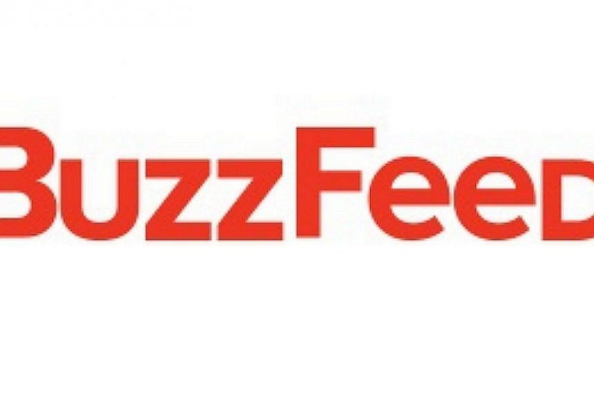The social news group BuzzFeed is looking to expand its coverage areas with a fresh infusion of US$50 million (S$62 million) in venture capital. -- PHOTO: SCREENGRAB FROM BUZZFEED.COM