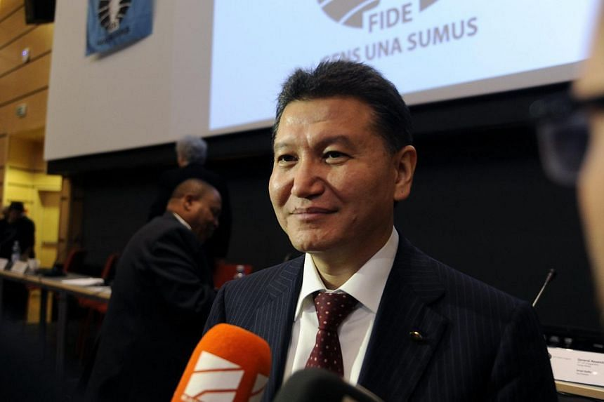 Kirsan Ilyumzhinov smiles after his re-election as president of the International Chess Federation, in Tromso, Norway, on August 11, 2014. Russian chess legend Garry Kasparov failed on Monday in his bid to unseat Ilyumzhinov - an ally of Russian Pres