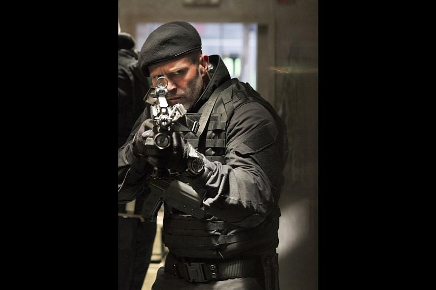 While filming The Expendables 3, Jason Statham (left) almost died when the brakes on a truck he was riding failed and the vehicle fell into the Black Sea.