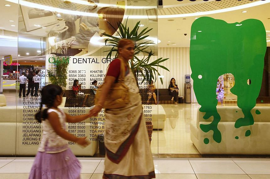 Q&M dental clinic located in the City Square Mall on Dec 27, 2012. -- PHOTO: ST FILE