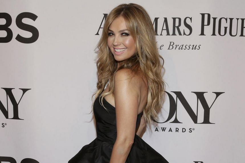 Singer Thalia arrives for the American Theatre Wing's 68th annual Tony Awards at Radio City Music Hall in New York. -- PHOTO: REUTERS