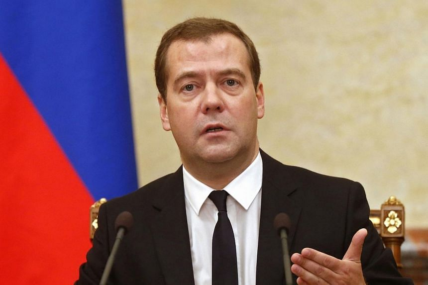 Hackers on Thursday, Aug 14, 2014, broke into the Twitter account of Russian Prime Minister Dmitry Medvedev and posted a spoof message saying he was quitting. -- PHOTO: REUTERS