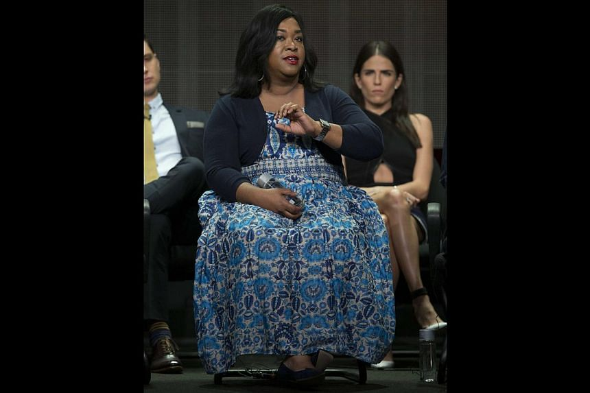 Shonda Rhimes is exasperated by the fact that hiring women and minorities is still considered so groundbreaking that she has to be singled out for praise for doing so. -- PHOTO: REUTERS