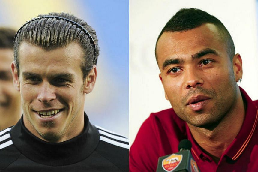 Real Madrid's Gareth Bale (left) and Roma's Ashley Cole. -- PHOTOS: REUTERS