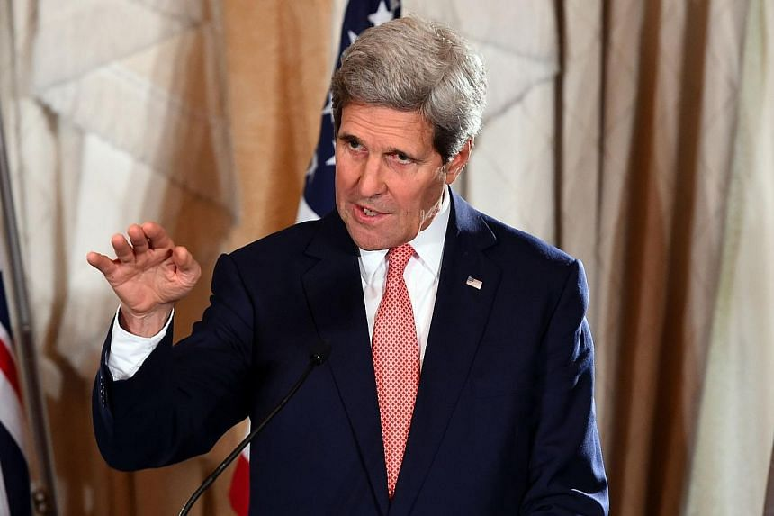 US Secretary of State John Kerry speaks at a joint press conference at the end of AUSMIN talks in Sydney on Aug 12, 2014.A constructive relationship between Washington and Beijing is necessary to maintaining regional stability despite Chi