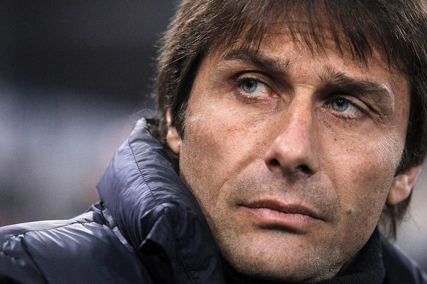 Antonio Conte, seen here in aMarch 2014 file photo, was named the new coach of Italy on Thursday on a two-year contract. -- PHOTO: AFP