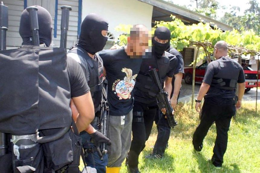 A 25-year-old man was arrested in a raid by the Bukit Aman's Special Branch Counter Terrorism Division on a house in Kuala Kangsar, Perak, on 18 June 2014. He is the suspected weapons handler for a militant group that was planning to carry out suic