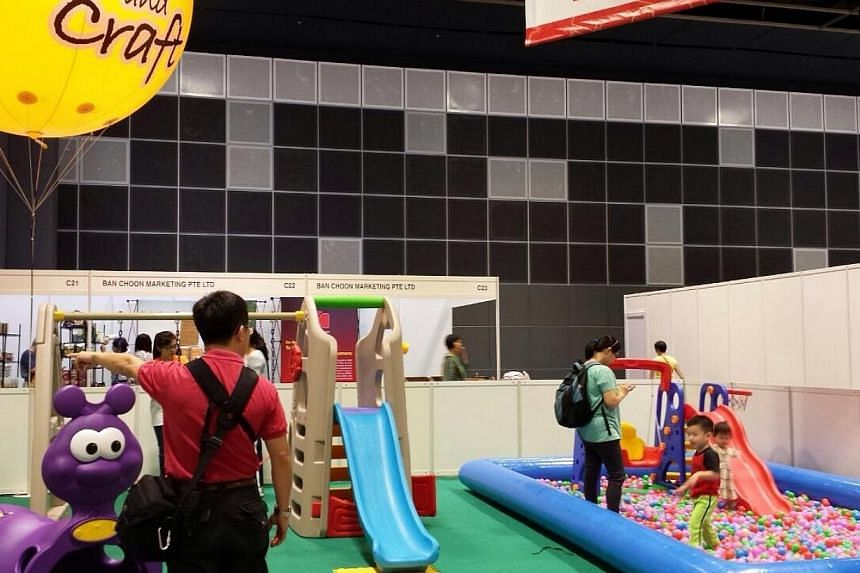 Playtime zone for the young ones at this weekend's Health & You exhibition.-- ST PHOTO: JOAN CHEW
