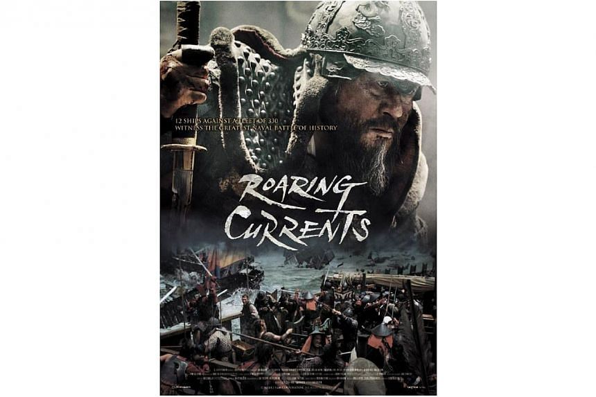 Myeongryang, which means Roaring Currents, attracted 13.62 million viewers as of Saturday after 18 days of screening, said distributor CJ Entertainment. -- PHOTO: CJ ENTERTAINMENT