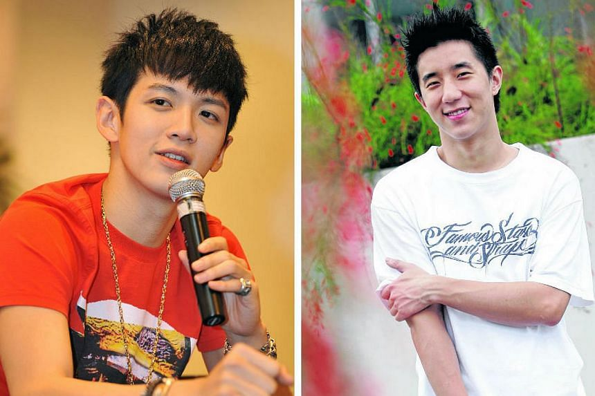 Beijing police have confirmed the arrests of Taiwanese actor Kai Ko (left) and Jaycee Chan, the son of actor Jackie Chan, for marijuana use. -- PHOTO: THE NEW PAPER FILE
