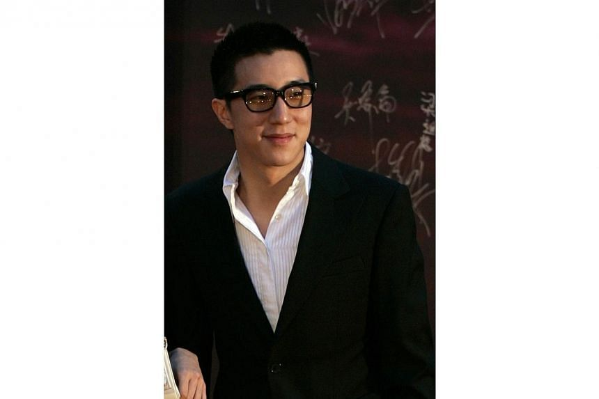 Jaycee Chan has admitted to taking marijuana for the past eight years, China Central Television (CCTV) has reported. -- PHOTO: REUTERS