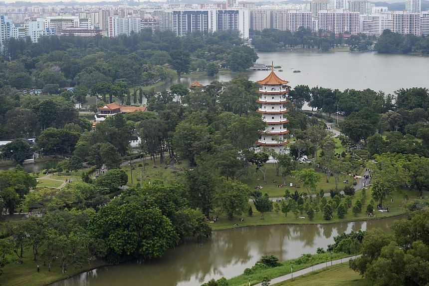 A view of the Chinese Garden and Jurong Lake area. An expanded park will combine the decades-old Chinese and Japanese gardens and the Jurong Lake Park. National Development Minister Khaw Boon Wan said in his blog yesterday that the new gardens will b
