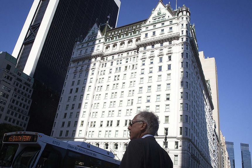 A general view of the Plaza Hotel in the Manhattan borough of New York August 18, 2014 - one of three hotels which theWall Street Journal online said the Sultan of Brunei had made aUS$2 billion (S$2.5 billion) bid for.A spokesman fo