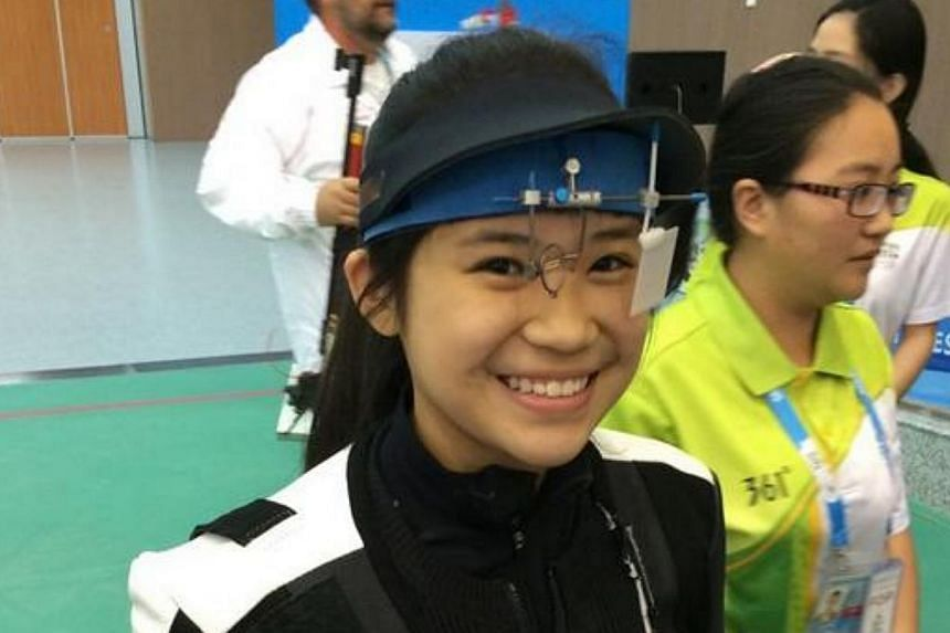 Singapore's Martina Lindsay Veloso has won the country's first medal at the Nanjing Youth Olympic Games. -- ST PHOTO: MAY CHEN
