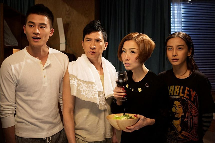 The cast of Temporary Family, (from far left) Oho Ou, Nick Cheung, Sammi Cheng and Angelababy, have excellent chemistry as urbanites who dream of living in a comfortable home.