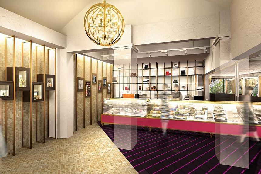 The 4,400 sq ft outlet will include an 80-seat dining area, retail section, and a museum with exhibits about the brand's history. -- PHOTO: HENRI CHARPENTIER