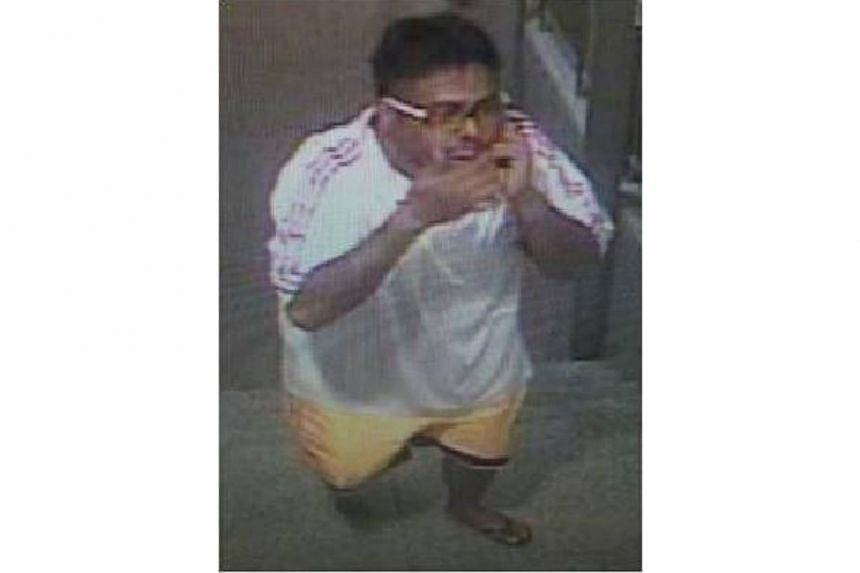 Police have issued a photograph of a man they wish to speak to in relation to the theft of a bicycle at Kembangan MRT Station last week. -- PHOTO: SINGAPORE POLICE FORCE
