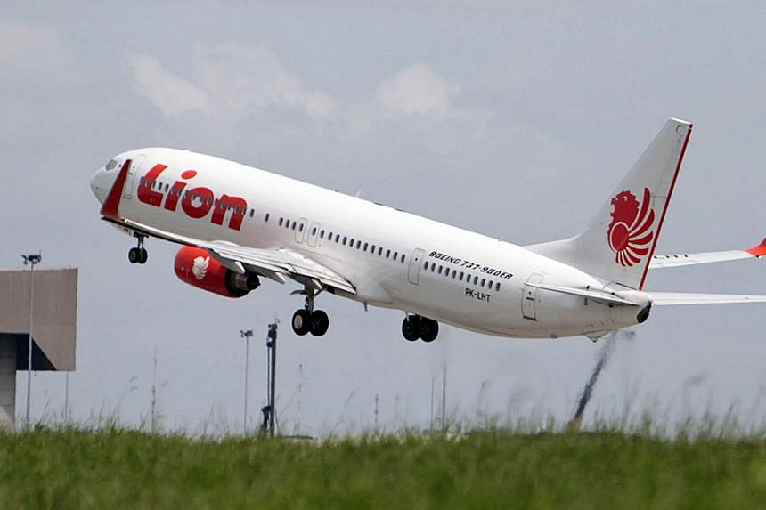 A Lion Air jet takes off from Soekarno–Hatta International Airport in Cengkareng, near Jakarta, on April 15, 2013. -- PHOTO: BLOOMBERG